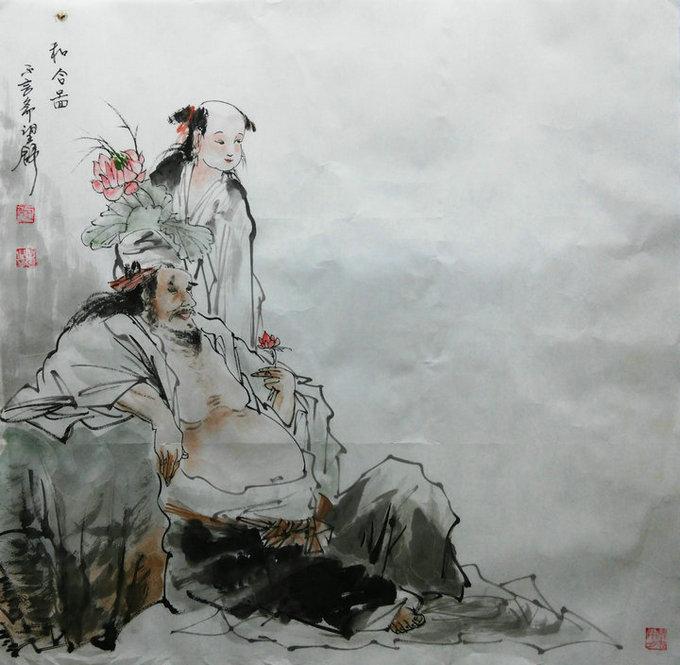 甘肃省农民书画研究会理事罗明月传统人物画欣赏