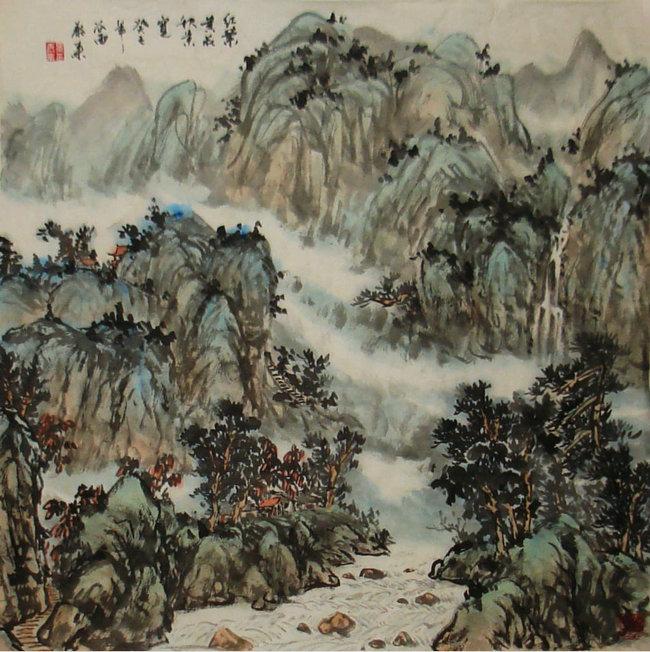 中国传统山水画研究院研究员景泰来国画作品欣赏