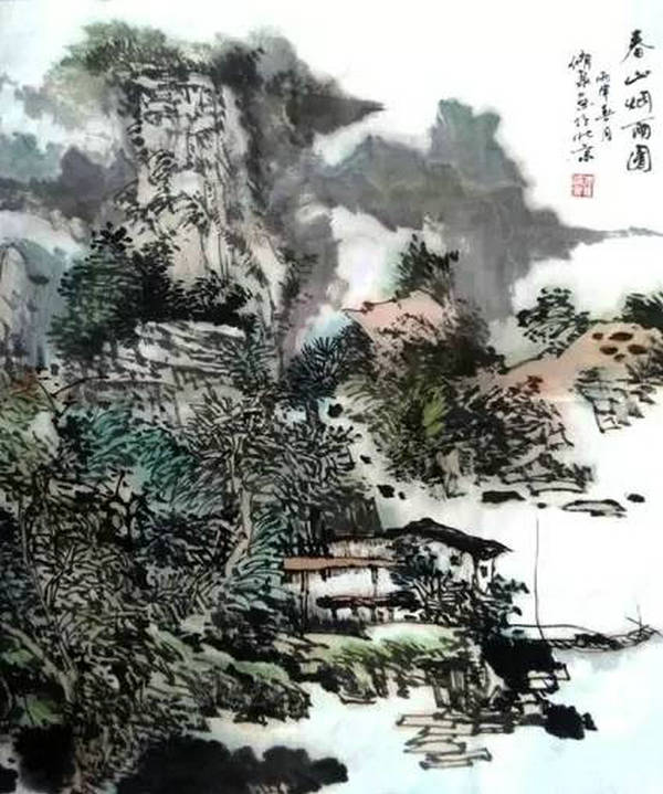 李修泉山水画作品欣赏