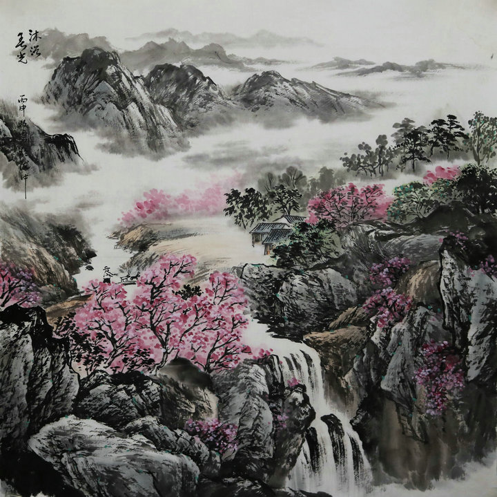 甘肃省美协会员马忠山水画作品欣赏