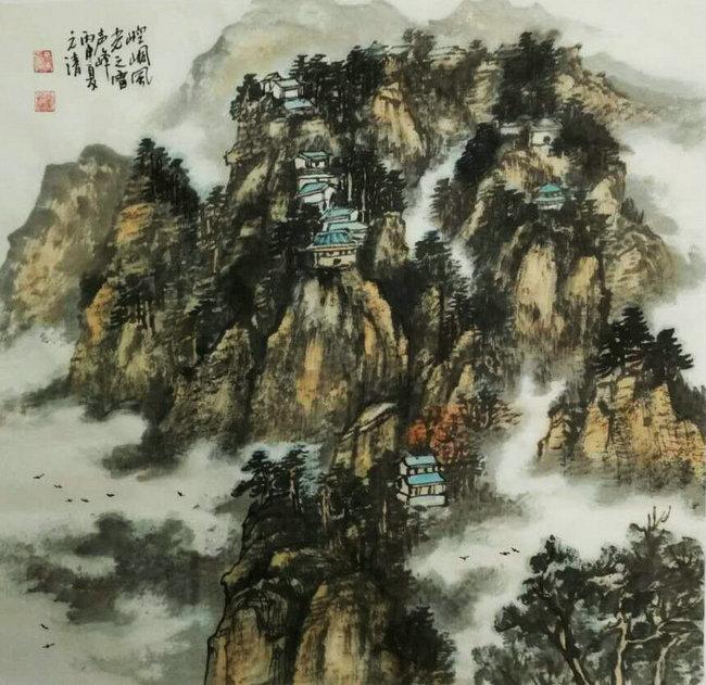 实力派国画家静宁党景荣国画作品欣赏