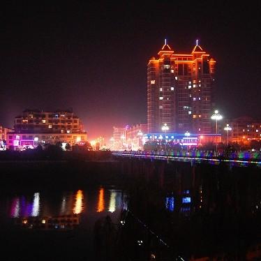 平淡人生:潢川县城夜景