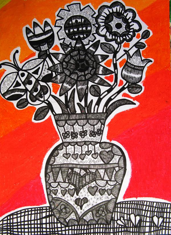 学生绘画花瓶图片大全_学生绘画花瓶图片下载图片