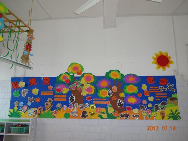 主题墙饰,应展示幼儿的作品图片